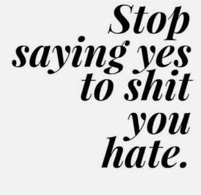 stop saying yes